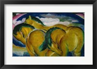 Framed Small Yellow Horses, 1912