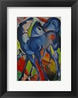 Framed Blue Fillies, 1913