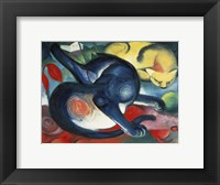 Framed Two Cats, Blue and Yellow, 1912