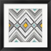 Framed Chevron Tile Black/White II