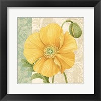 Framed Pastel Poppies I