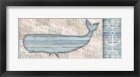 Framed Ocean Life Whale