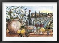 Framed Provence Wine Landscape