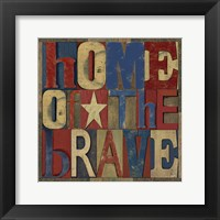 Framed Patriotic Printer Block I