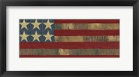 Patriotic Printer Block Panel I Framed Print