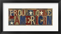 Patriotic Printer Block Panel II Framed Print