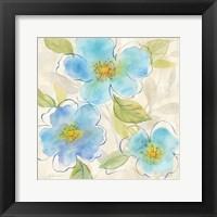 Blue Poppy Garden II Framed Print