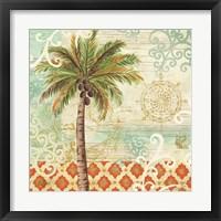 Framed Spice Palms I