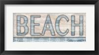 Framed Driftwood Beach Sign I