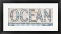 Framed Driftwood Beach Sign II
