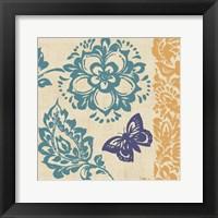 Framed Blue Indigo Butterfly II