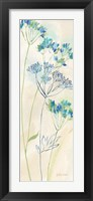 Indigo Wildflowers Panel I Framed Print