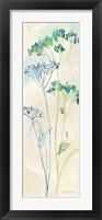 Indigo Wildflowers Panel II Framed Print