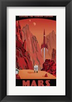 Framed Crimson Canyons Of Mars