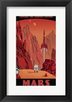 Framed Crimson Canyons Of Mars