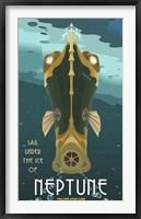 Framed Sail Under The Ice Of Neptune