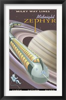 Framed Saturn Midnight Zephyr