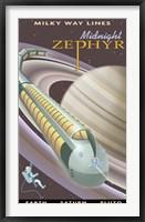 Framed Saturn Midnight Zephyr
