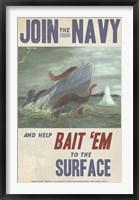 Framed Sub Squid Navy