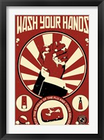 Framed Wash Your Hands