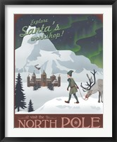 Framed North Pole Christmas