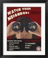 Framed Zombie Poster