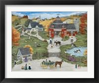 Framed Grandpa's Barn Yard - Grandma's Garden