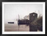 Framed Misty Harbor
