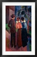 Framed Promenade Of Three People I,  1914