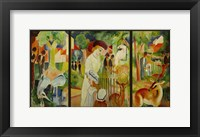 Framed Large Zoological Garden (Triptych)