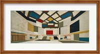 Framed Colored Design For The Central Hall Of A University, 1923