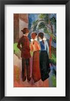 Framed Promenade Of Three People II, 1914