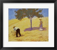 Framed Baum Im Kornfeld - Tree In A Rye-Field, 1907