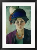 Framed Elisabeth Macke With Hat, 1909