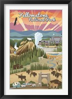 Framed Yellowstone Park Scene