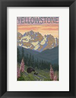 Framed Yellowstone Mountains