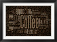 Framed Coffee Beans Text