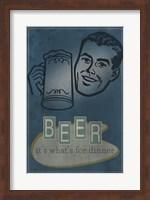Framed Beer For Dinner