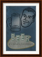 Framed Beer For Dinner