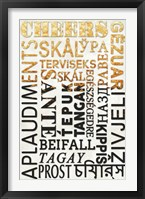 Cheers In Different Languages Framed Print