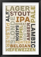 Lager In Different Languages Framed Print