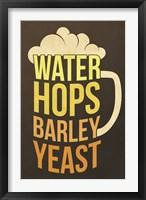 Framed Water Hops Barley