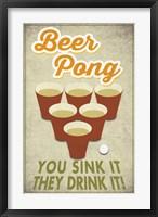 Framed Beer Pong Sink It