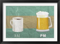 Framed AM Coffee PM Beer