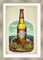 Framed American Light Lager Beer