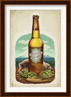Framed American Light Lager Beer