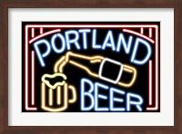 Framed Portland Beer Fluorescent Sign