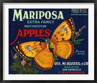 Framed Mariposa Apples Butterfly Ad