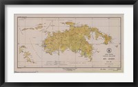 Framed Map of St. John
