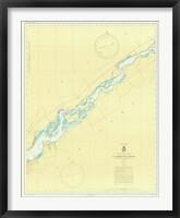 Framed St. Lawrence River Map